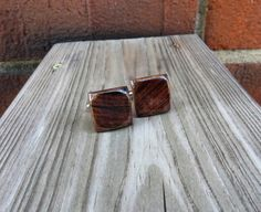 Rosewood Wood Cuff Links Handmade by TennesseeWoodShop on Etsy $46.00