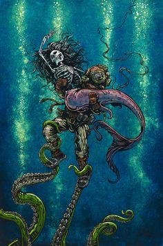 Ilustraciones de fantasía y sci fi