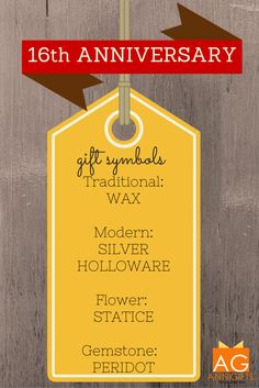 16th Wedding Anniversary Gift List : wedding anniversary 16th wedding anniversary gifts store anniversary ...