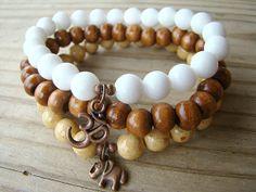 Boho Stretch Bracelet Set  3 Beaded Bracelets. by BeJeweledByCandi, $29.50