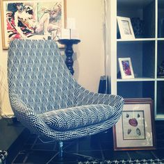 graphic vintage upholstery
