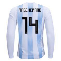 adidas Javier Mascherano Argentina Long Sleeve Home Jersey 2018