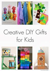 Fun at Home with Kids: Creative DIY Gifts for KidsGreat Ideas inspired by Waldorf and Montessori ideas and fun modern design