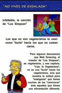 """La verdad tras la famosa canción """"No vives de ensalada"""" de Los Simpson."""