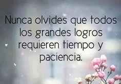 GRANDES LOGROS REQUIEREN TIEMPO Y PACIENCIA...!!@Torreperogil #Fisiobian #fisioterapia #Osteopatia #Salud #Dietetica
