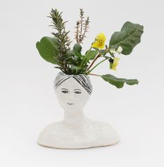 ceramic head with flowers | Flickr: Intercambio de fotos