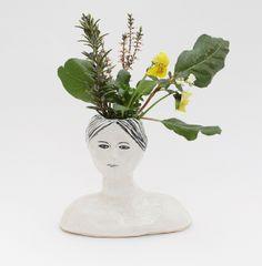 ceramic head with flowers | Flickr: Intercambio de fotos