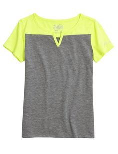 Colorblock Henley | Girls Tops Activewear | Shop Justice