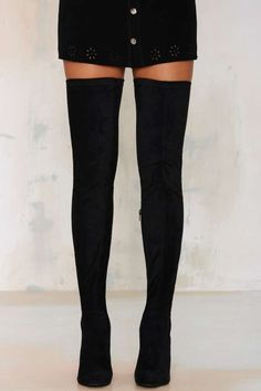 Jeffrey Campbell Perouze Thigh High Boot - Boots + Booties | Back In Stock…