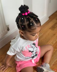 African American Kids Hairstyles, Toddler Braided Hairstyles, Braids Hairstyles Pictures, Girls Natural Hairstyles, Cute Little Girl Hairstyles, Baby Girl Hairstyles, Baby Hair Growth, Mixed Hair, Braids For Kids