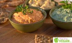Vegan Vitamix Hummus Recipes        2 15 oz. cans garbanzo beans      1/2 to 1 whole fresh jalapeno, seeded      1/4 cup lemon juice      1 clove raw garlic      1 tsp. salt (or to taste)