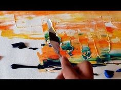 Very Easy Abstract Painting / Abstract landscape / Acrylics and Palette ...