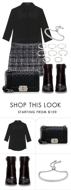"""""""Untitled #17"""" by blogconnfidence ❤ liked on Polyvore featuring Chanel, Zara, Monica Vinader, Forever 21, women's clothing, women's fashion, women, female, woman and misses"""