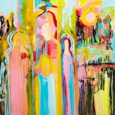 """Saatchi Art Artist Mia Helgesen; Painting, """"morning glory"""" #art"""