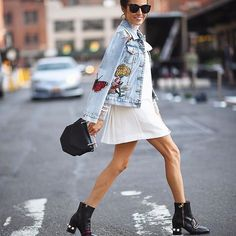Outfit perfection! Jean jackets are even better with patches.
