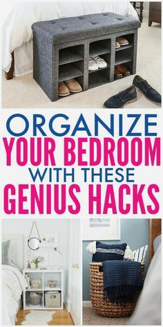 Your Master Bedroom Should Be A Place Where You Can Relax. These Master Bedroom organizing Ideas Will Help You Organize a Bedroom and Create A Space You Love #bedroomorganization #masterbedroom #organizingideas #organizinghacks #organizingbedroom