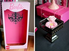 Barbie Box we made for our paparazzi area at the Barbie Birthday Party by LundynBridge Events