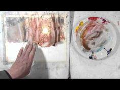 Experimental Landscape In Watercolour Pt 1 - YouTube