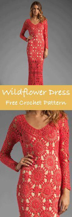 Lacy Summer Dress #crochet #freepattern #summer