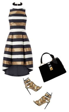 """""""black, gold, white"""" by lovetodrinktea ❤ liked on Polyvore featuring Edie Parker, Tom Ford, Effy Jewelry, Miu Miu and Anissa Kermiche"""