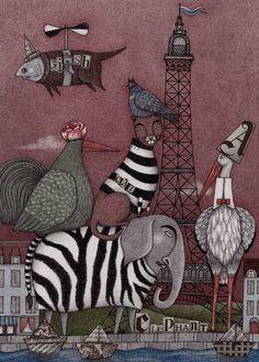 "Saatchi Art Artist Judith Clay; Drawing, ""Animal Convention"" #art"