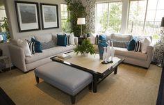 Pokój dzienny szaro-niebieski - Pokój dzienny - inspiracje: GALERIA ZDJĘĆ