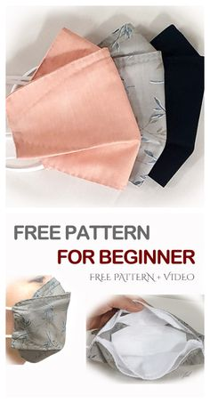icu ~ Pin on craft ideas ~ DIY Fabric Face Mask Free Sewing Patterns & Paid+ Video – Fabric Art DIY. Sewing Patterns Free, Free Sewing, Sewing Tutorials, Sewing Hacks, Free Pattern, Pattern Sewing, Fabric Patterns, Sewing Art, Easy Face Masks