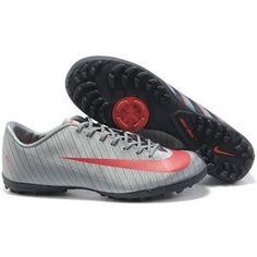 http://www.asneakers4u.com Nike Mercurial CR7 Flash Victory II TF Turf Football Trainers Soccer Shoes Metallic Blue/Solar Red/Dark Obsidian