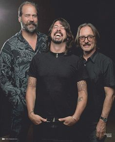 Krist Novoselic, Dave Grohl, and Butch Vig