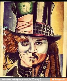 Mad Hatter, Willy Wonka, Edward Scissorhands, and Captain Jack Sparrow. Johnny Depp!!!!
