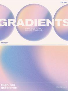 More grain than your local bakery. 25 high-res gradient backgrounds for your design. Versatile, robust gradients. #gradients #gradient #gradientbackgrounds Web Design, Tool Design, Layout Design, Graphic Design Posters, Typography Design, Branding Design, Design Digital, Grain Texture, Ui Design Inspiration