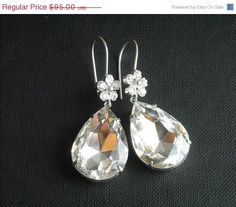 SALE Bridal earrings  Crystal earrings  Cz earrings  by Studio1980, $84.55