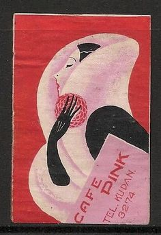 Old Matchbox Labels Japan Woman