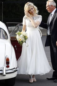 Pin for Later: Fearne Cotton Picks Sequins and a Shorter Hemline For Her Wedding Fearne Cotton in her wedding dress