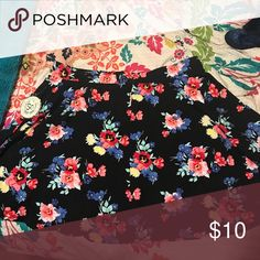 Floral skater skirt This floral skater skirt is new with tags! Authentic American Heritage Skirts Circle & Skater