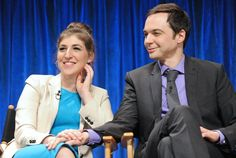 Paley Fest 2013. Jim Parsons and Mayim Bialik.