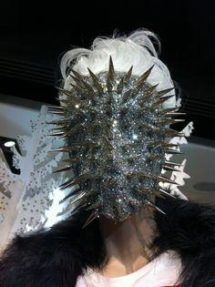 #spikes #glitter #sparkle #face #mask #facemask #spikemask