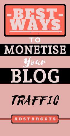 Best Ways to Monetise Your Blog Traffic - SEO Blog - Read the latest SEO trend and statistics #SEO #SEOBlog #blog - Earn Money Online, Make Money Blogging, Make Money From Home, Money Tips, Way To Make Money, How To Earn Money, Money Hacks, Earning Money, Money Fast