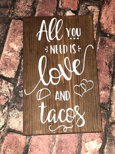 All you need is love and tacos Wedding sign Taco bar Wedding Vows, Wedding Signs, Fall Wedding, Wedding Reception, Our Wedding, Wedding Venues, Dream Wedding, Reception Ideas, Wedding Stuff