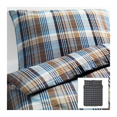Ikea Benzy Duvet Quilt Cover Full Queen King Twin Brown Blue Checkered Soft New At Home Furniture Store, Modern Home Furniture, Affordable Furniture, Bedroom Furniture, Safari Bedroom, Ikea, Quilt Cover Sets, Bed Covers, Interiores Design