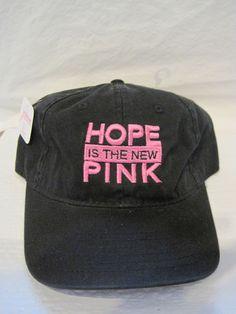 Breast Cancer Awareness: Hope Is The New Pink Baseball Cap / Hat Snap Back    #BaseballCap
