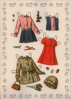 Marges8's Blog:  Judy paper doll Saalfield #1713 clothes page 1