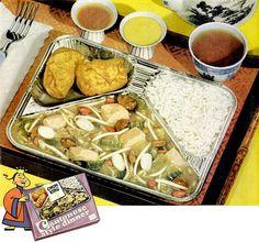 chun king 1957 - Cantonese Frozen Dinner. I'll bet those are squishy wet eggrolls in the upper left.