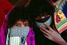 Rashaida Women | Africa | Rashaida woman and girl, north of Masawa, Eritrea | © Robert ...