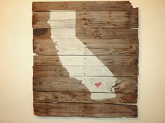 California on reclaimed wood by WeatheredConcepts on Etsy, $195.00