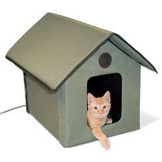 K&H Outdoor Heated Cat House K&H Outdoor Heated Cat House. Feral or outdoor cats can seek shelter from the elements inside this heated, waterproof house. Heated Cat House, Heated Outdoor Cat House, Heated Cat Bed, Outdoor Cats, Indoor Outdoor, Outdoor Ideas, Outdoor Spaces, Bed Images, Cat Supplies