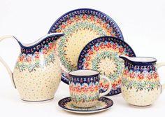 Pottery set by Zakłady Ceramiczne, Polish pottery. Click to enlarge