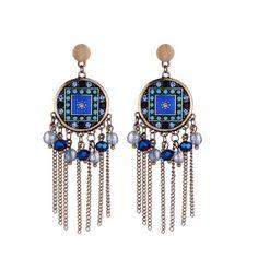 Subharpit Green Color Tussel Thread Dangle /& Drop Earrings for Women /& Girls