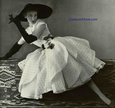 Couture Allure Vintage Fashion: Weekend Eye Candy - Jacques Fath, 1951- Love the ruffled tiers they give it such an elegant feminine flair