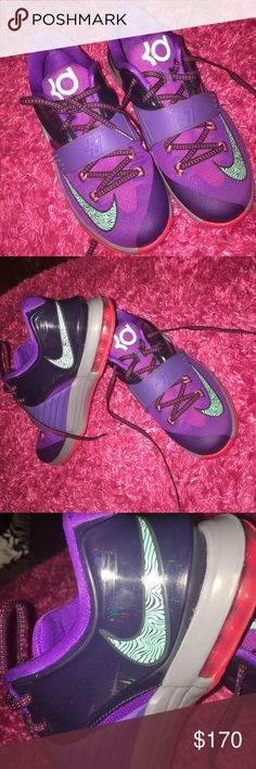 KD Nike basketball shoes purple KD's in great condition Nike Shoes Sneakers
